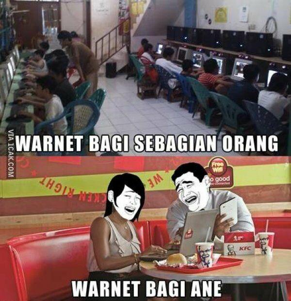 Meme Anak Warnet Restoran