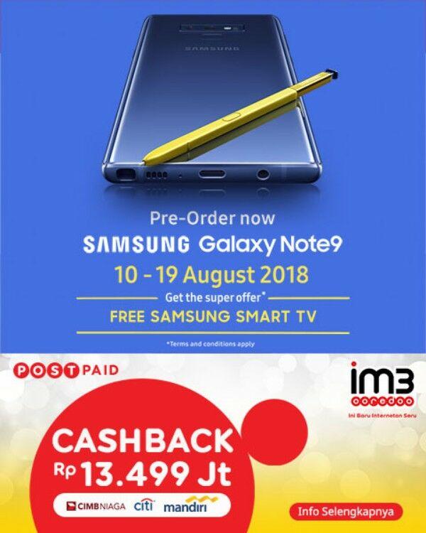 Samsung Galaxy Note9 Dengan Super Plan Indosat 09ec0