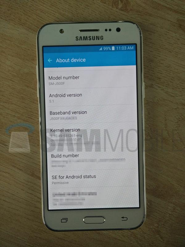 Foto Bocoran Spesifikasi Samsung Galaxy J5 3