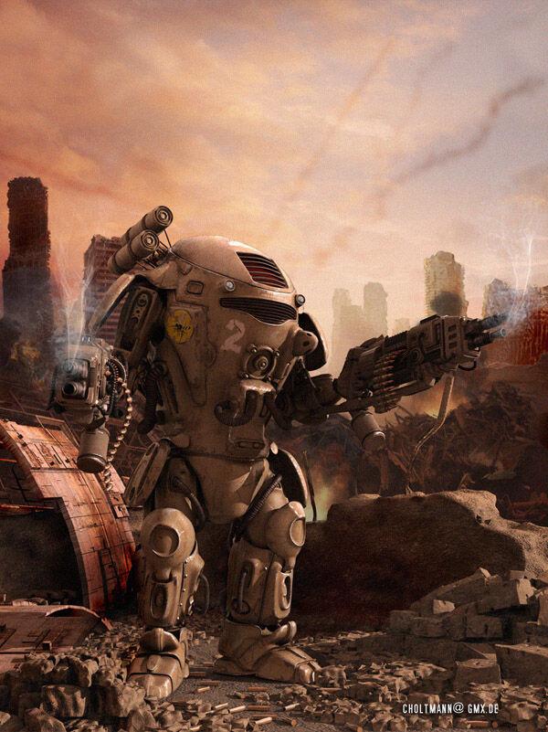 Karya Seni Robot 34