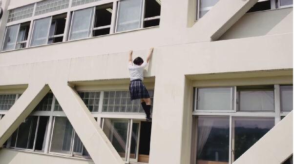 Siswi Jepang Parkour 1
