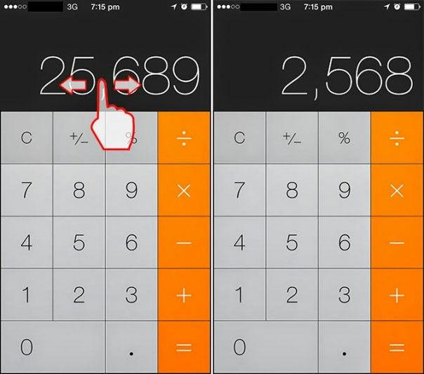 Usap Untuk Menghapus Angka Di Aplikasi Kalkulator