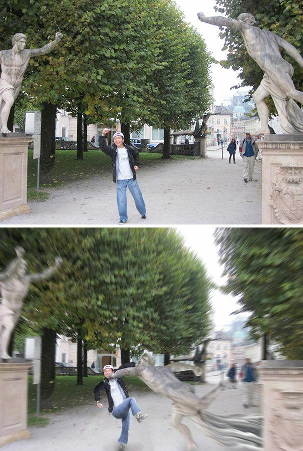Ingin Pose Foto Dengan Patung Lebih Dinamis