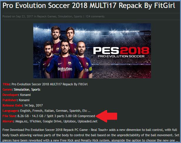 Repack Game Pes 2018 Ok