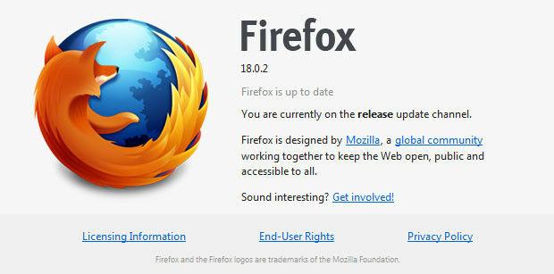 Firefox 18 0 2