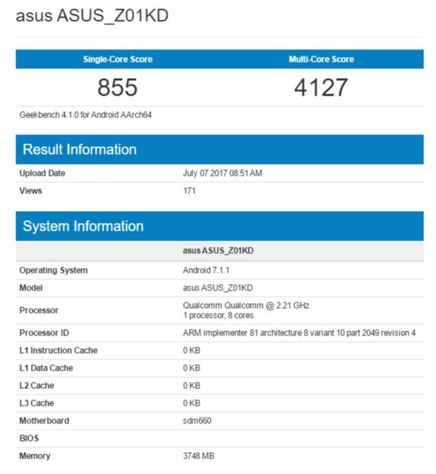 Asus Zenfone 4 Asusz01kd