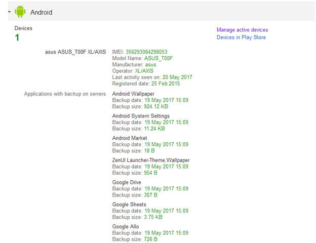 Cek IMEI Smartphone Android di Google Device Manager