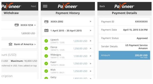 Payoneer Screenshoot