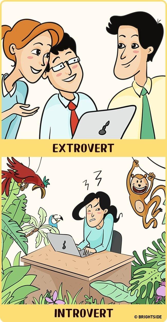 Perbandingan Introvert Dan Ekstrovert 5
