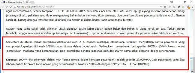Power Bank Tidak Boleh Masuk Pesawat Screenshot A7dbf