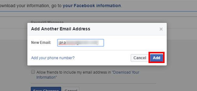 Cara Mengganti Email Fb 1 4 Caafe
