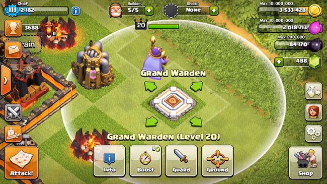 Grand Warden Hero Baru Coc 2