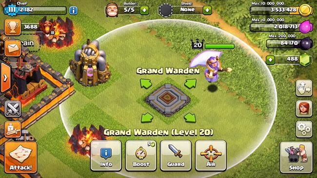 Grand Warden Hero Baru Coc 3