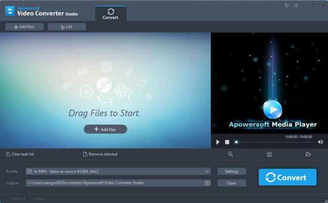 Apowersoft Converter Video Tampilan Pertama