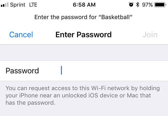 No Share Password