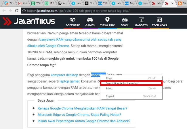 Fitur Rahasia Google Chrome 10