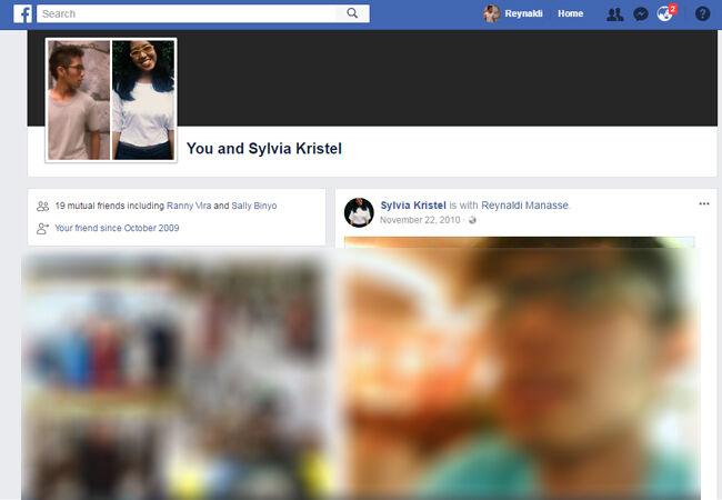 Facebook History Between