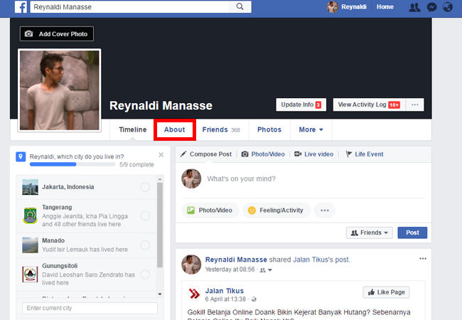 how to get email from facebook profile 2018