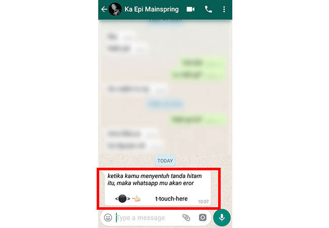 Cara Membuat Whatsapp Error 1 3df28