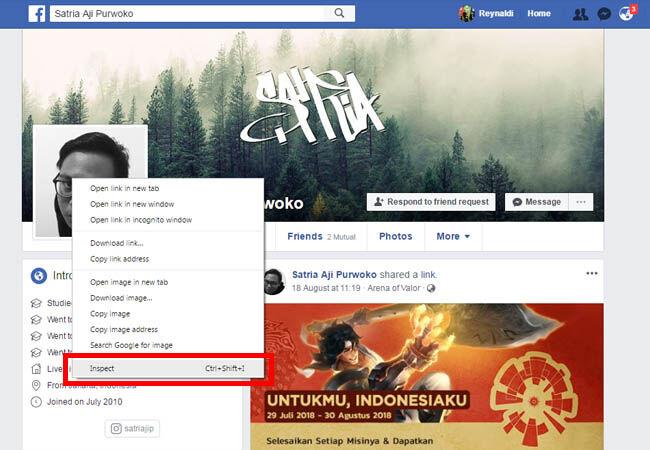 Cara Hack Foto Profil Facebook Orang Lain Tanpa Ketahuan
