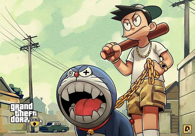 Doraemon Grand Theft Auto V 1