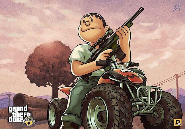 Doraemon Grand Theft Auto V 3