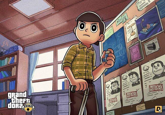 Doraemon Grand Theft Auto V 5