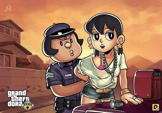 Doraemon Grand Theft Auto V 6