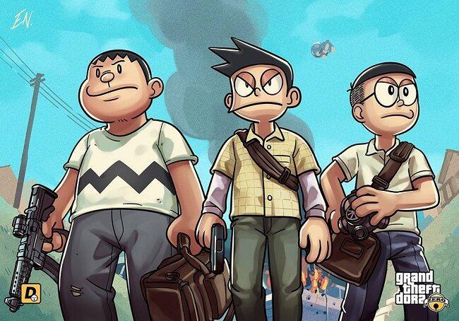 Doraemon Grand Theft Auto V 7