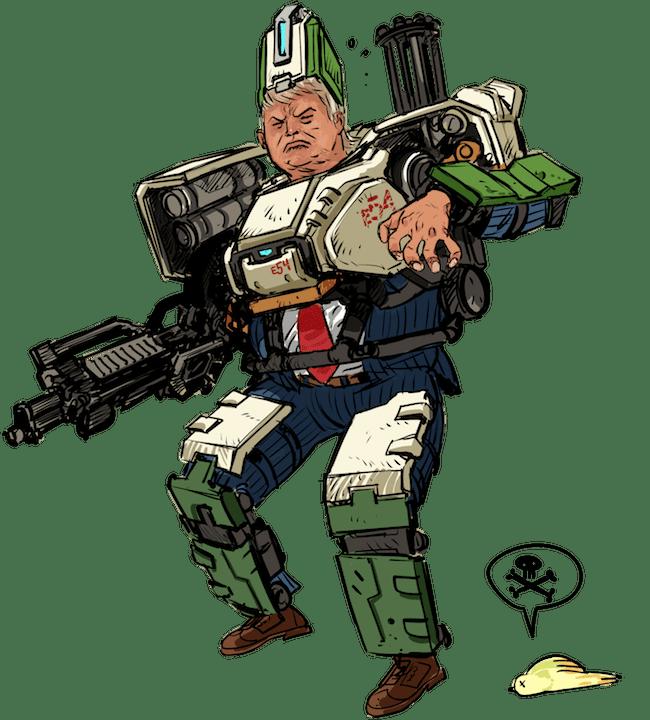Bacotan Gamer Ala Donald Trump 3