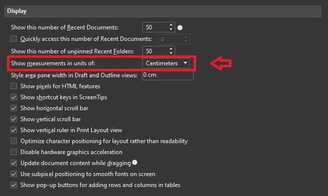Cara Menampilkan Ruler Di Word Show Measurements In Units Of 252ac