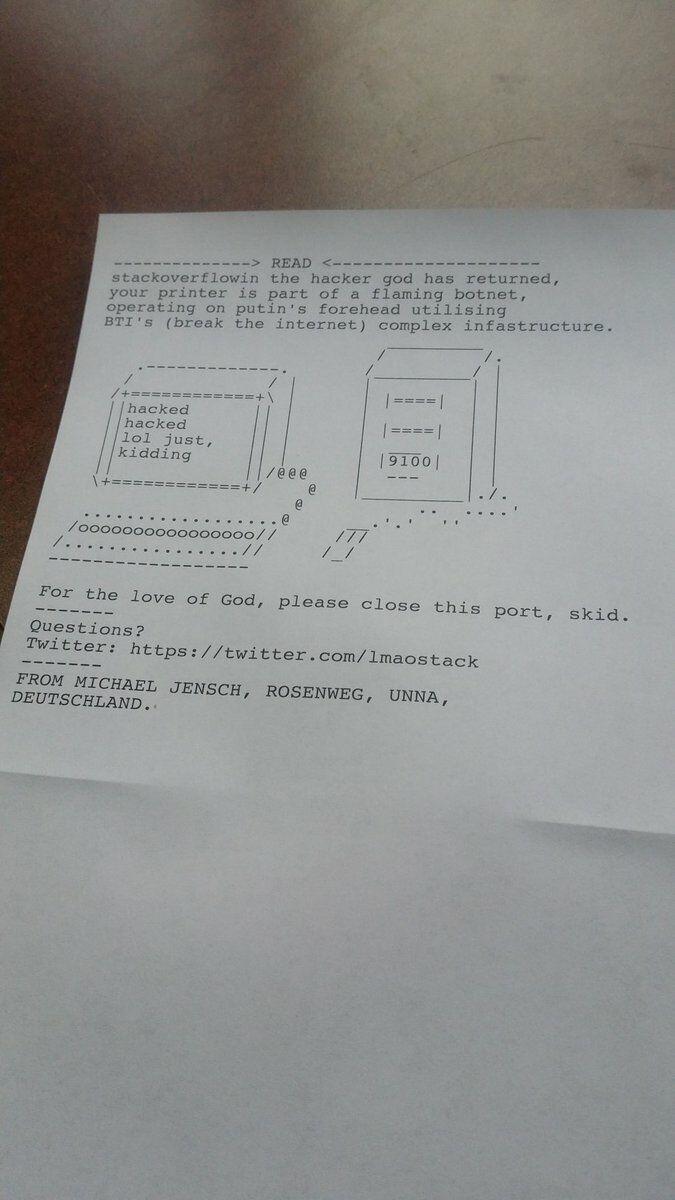 Hacker Retas Printer 1