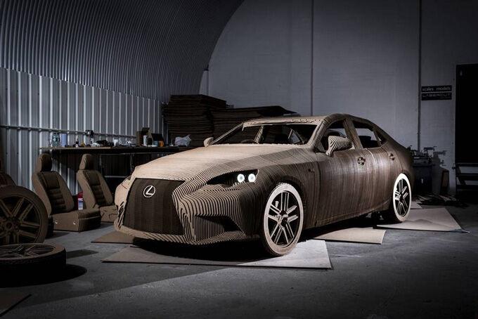 Lexus Electric Car Berbahan Kardus 1