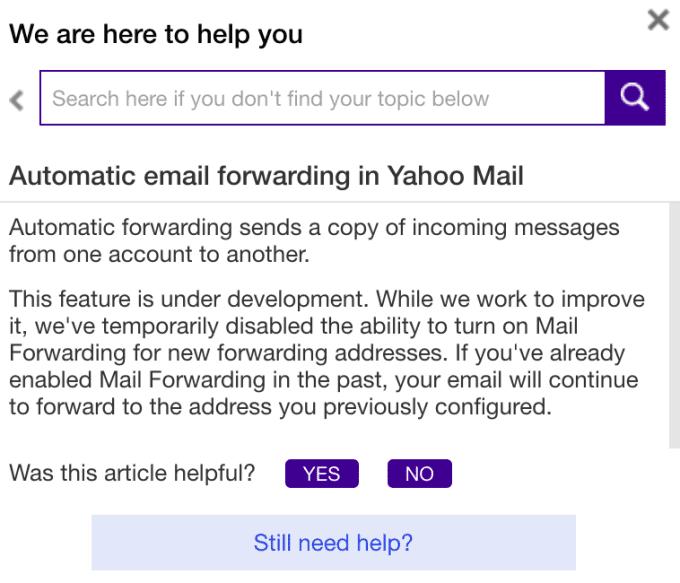Email Forwarding Yahoo 1