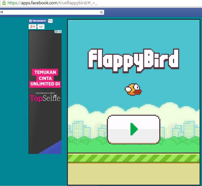 Seru Sekarang Flappy Bird Hadir Di Facebook 2