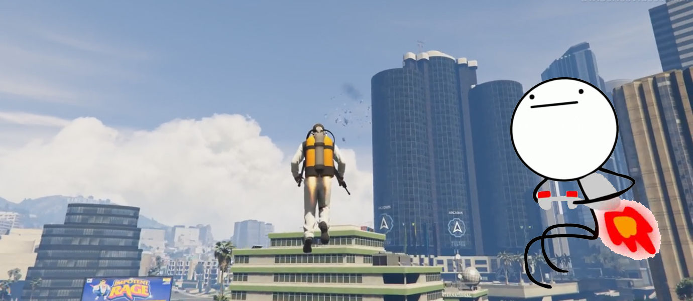 Akhirnya Muncul GTA 5 Jetpack Mod