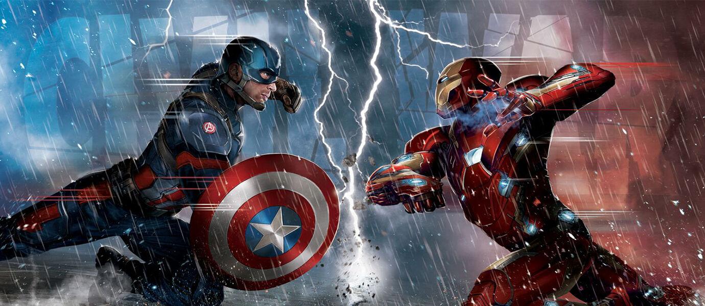 Ini Dia Tim Iron Man dan Tim Captain America yang Berperang di Civil Wars