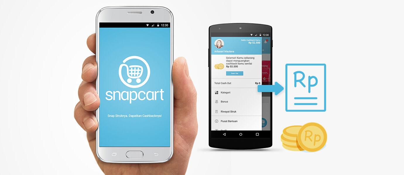 Snapcart, Aplikasi yang Mampu Mengubah Struk Belanja Menjadi Cashback