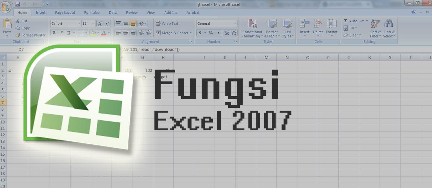 Kumpulan Formula Microsoft Excel 2007 Lengkap