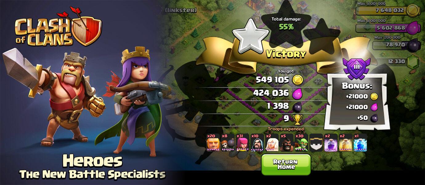 Cara Dapat 400 Ribu Loot Hanya Dengan Barbarian dan Archer di Clash of Clans