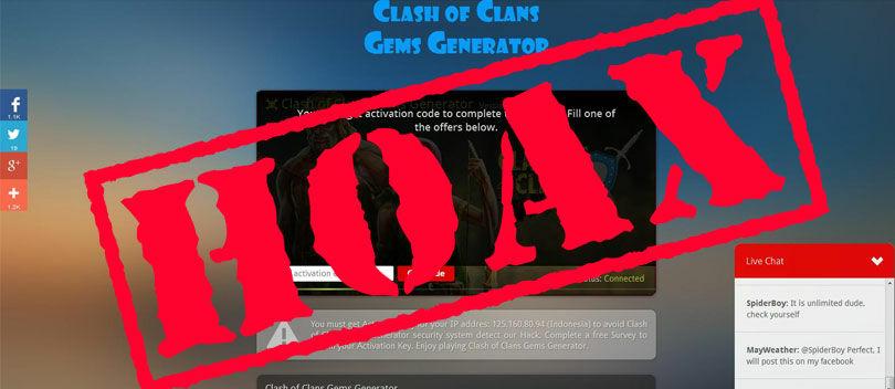 Cara Membuktikan Kalau Cheat Clash of Clans Online Itu HOAX