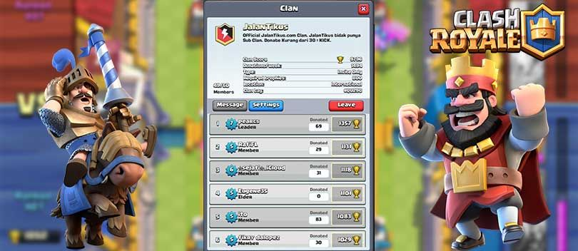 5 Alasan Kenapa Harus Punya Clan di Clash Royale