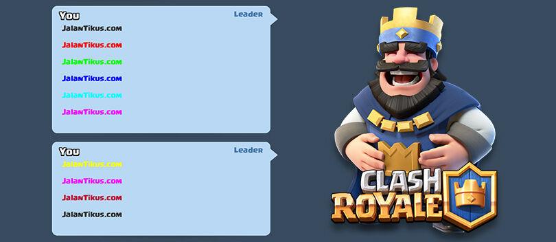 Cara Membuat Tulisan Berwarna di Clash Royale