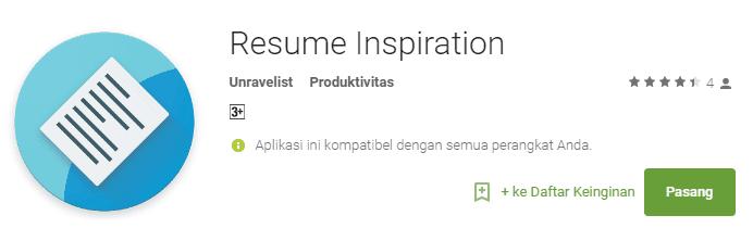 Download Aplikasi Resume Builder