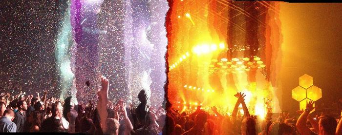 Ini Jadinya Kalau Ngambil Foto Panorama Saat Konser Lampunya Jadi Gonta Ganti Lumayan Keren Sih