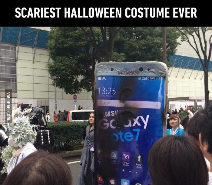 Kostum Halloween Lucu Galaxy Note 7 5