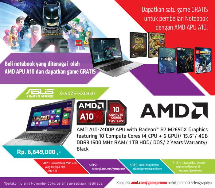 Asus X550ze Notebook Murah Prosesor 12 Core 1