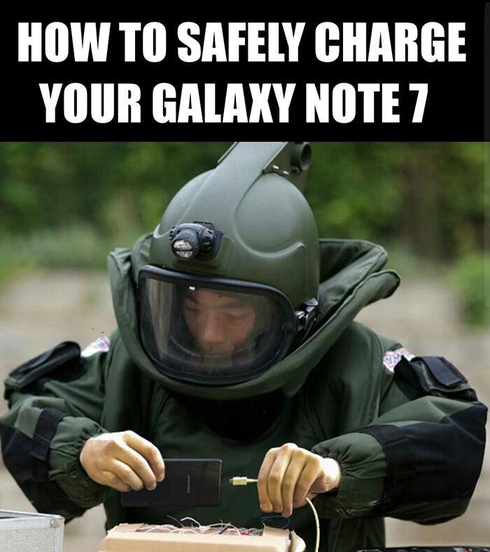 Respon Lucu Samsung Galaxy Note 7 Meledak 11