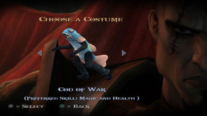 41918 4 God Of War 2 Fish Kratos With Fish Hook Attacks 32a66