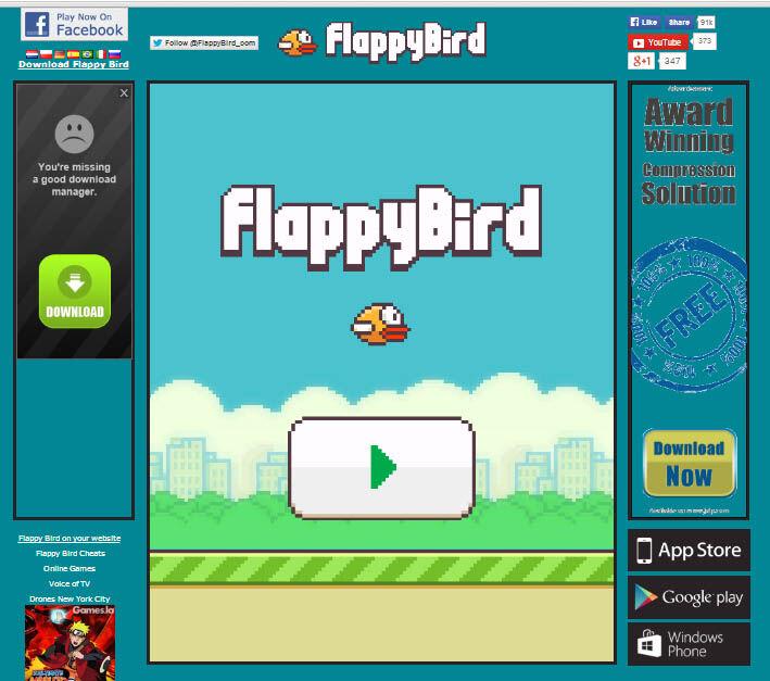 Seru Sekarang Flappy Bird Hadir Di Facebook 1